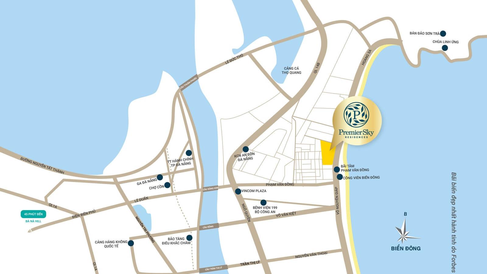 Vị trí dự án căn hộ cao cấp The 6Nature Đà Nẵng