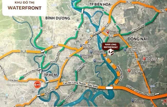 Vị trí dự án khu đô thị Spring Waterfront City Biên Hòa Đồng Nai